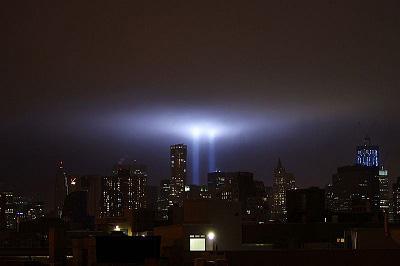Tribute in Light, 9-11-11. Photo by David Shankbone.